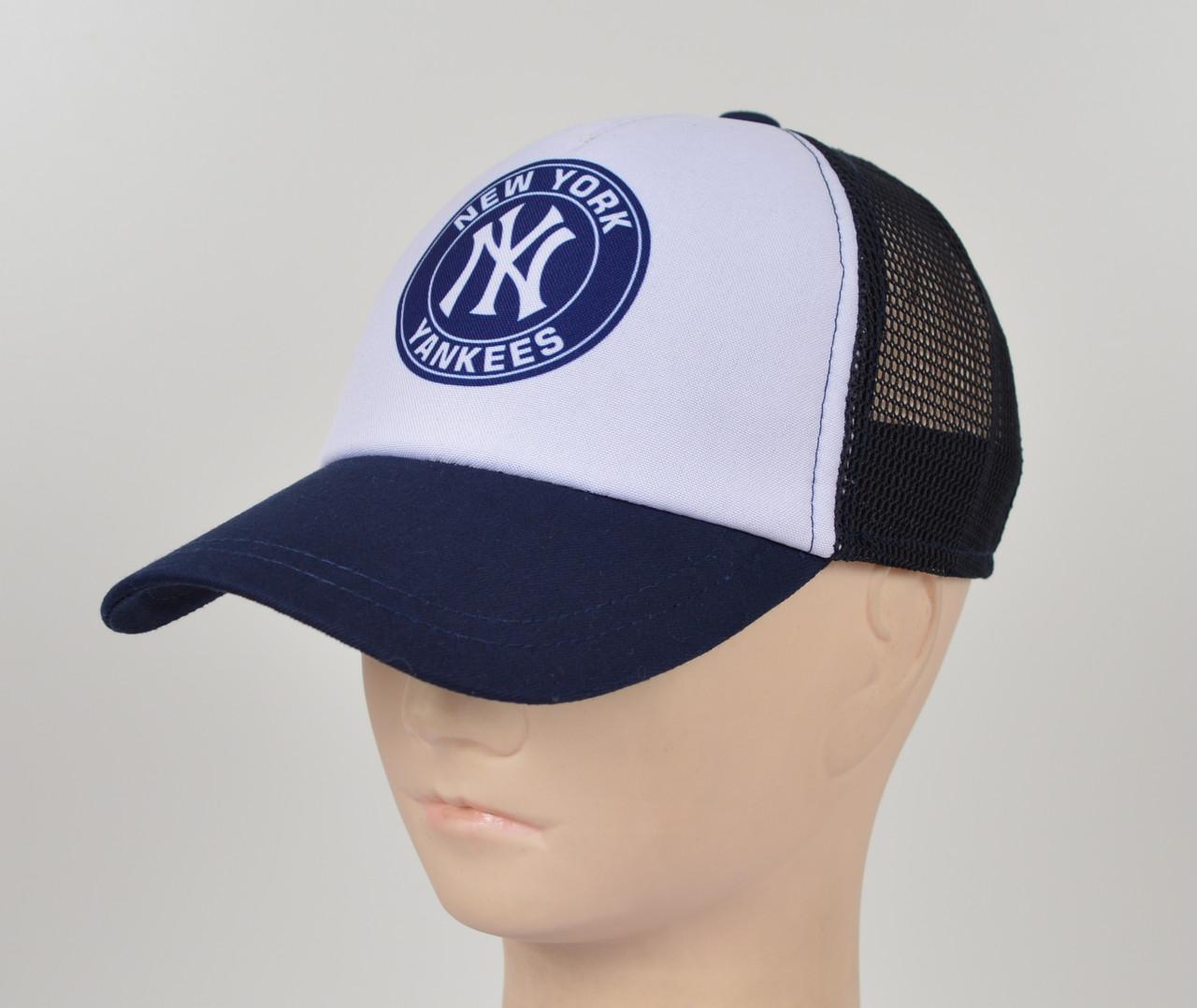 Бейсболка 5 кл сетка NY синий