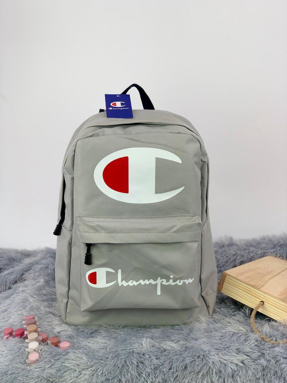 Рюкзак в стиле Champion серый