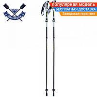 Трекинговые палки Route (Alu 7075) четырехсекционные, пара, 34 / 135 см, система Z-pole + FlipLock Ручка