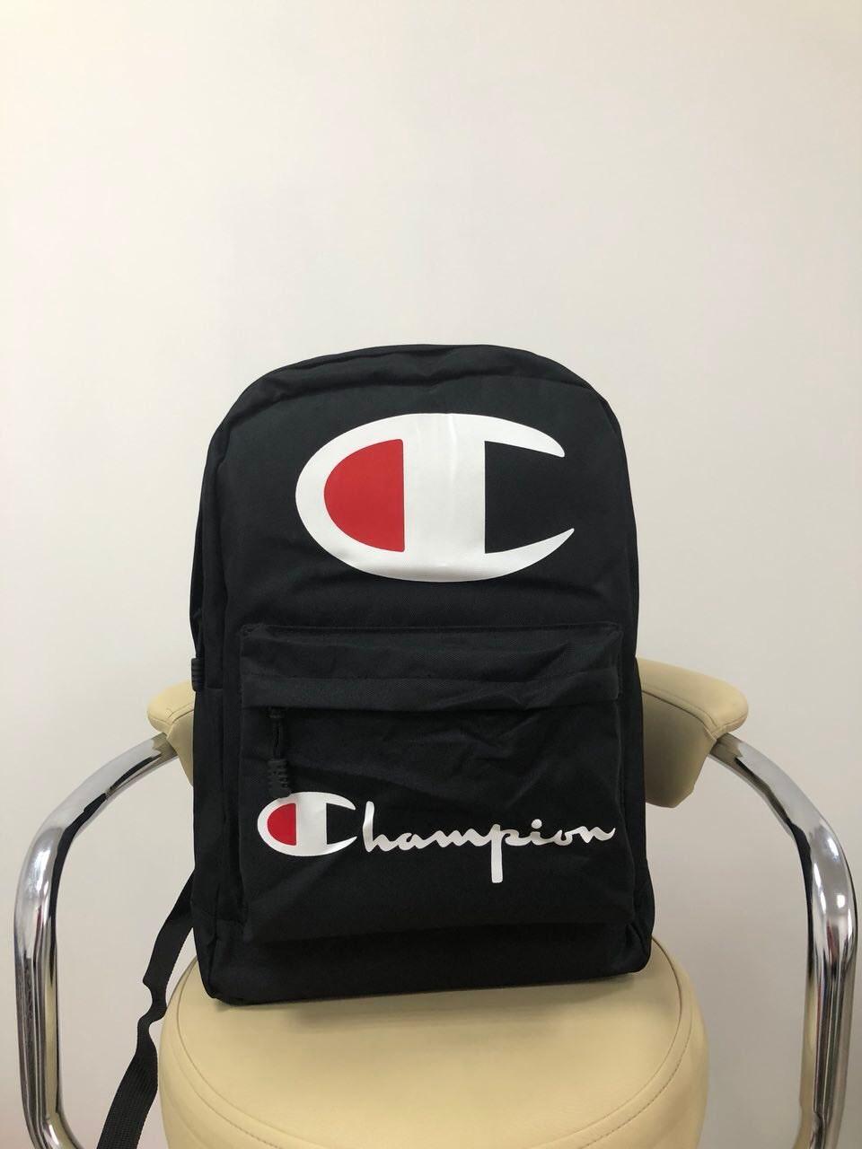 Рюкзак в стиле Champion черный