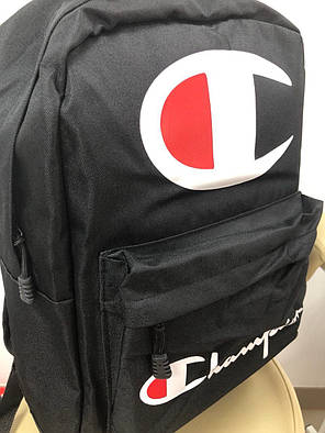 Рюкзак в стиле Champion черный, фото 2