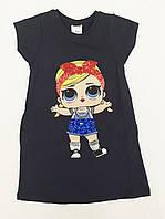 Стильное трикотажное летнее платье для девочки, фото 1
