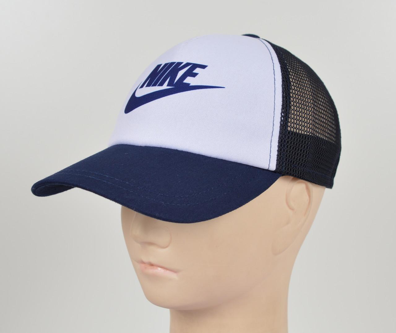 Бейсболка 5 кл сетка Nike синий