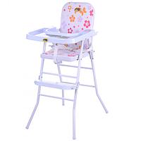 Детский стульчик для кормления Bambi HB 303-8 Розовый (intHB 303-8)