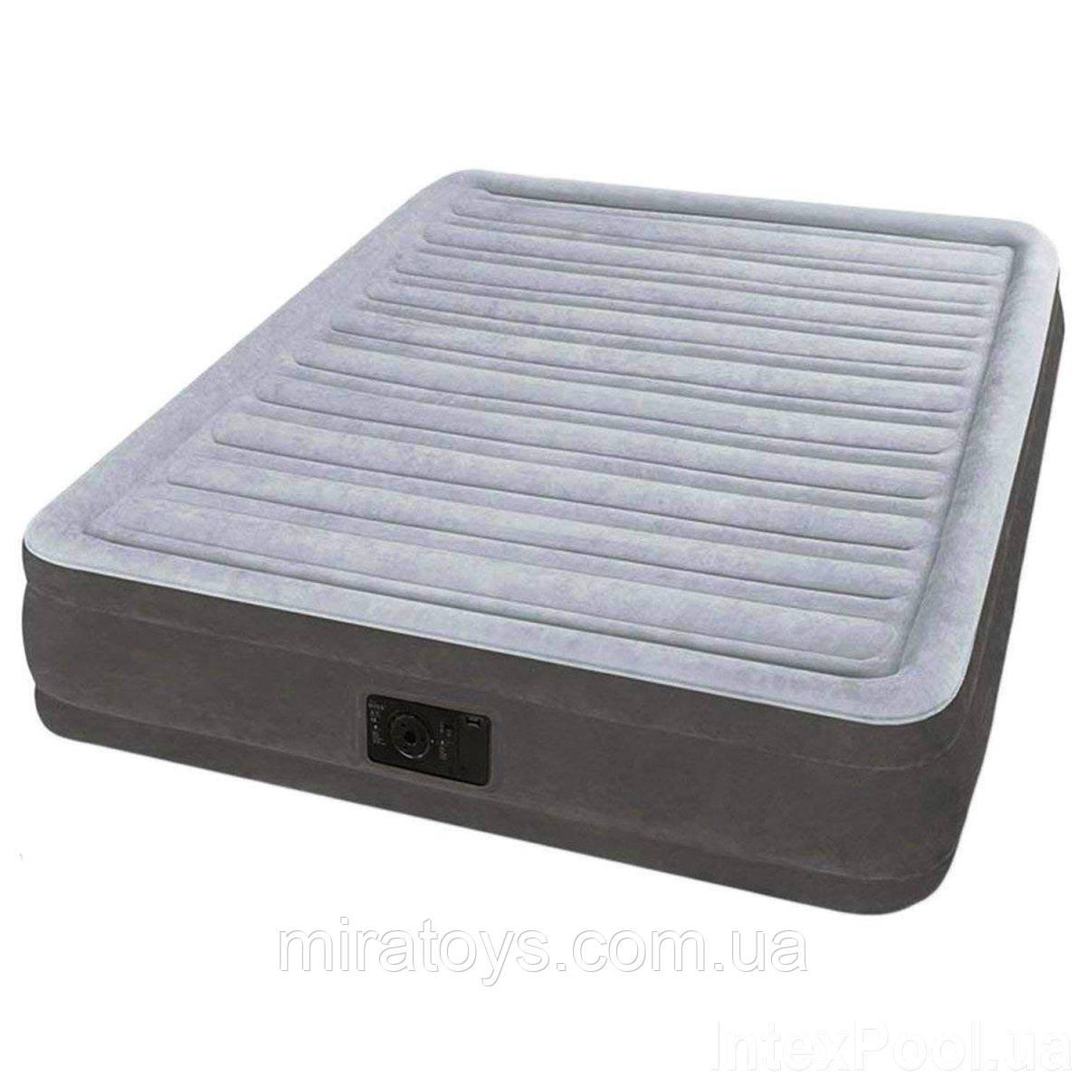✅Надувная кровать Intex 67768, 137 x 191 x 33 , встроенный электронасос. Полутороспальная