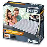 ✅Надувная кровать Intex 67768, 137 x 191 x 33 , встроенный электронасос. Полутороспальная, фото 5