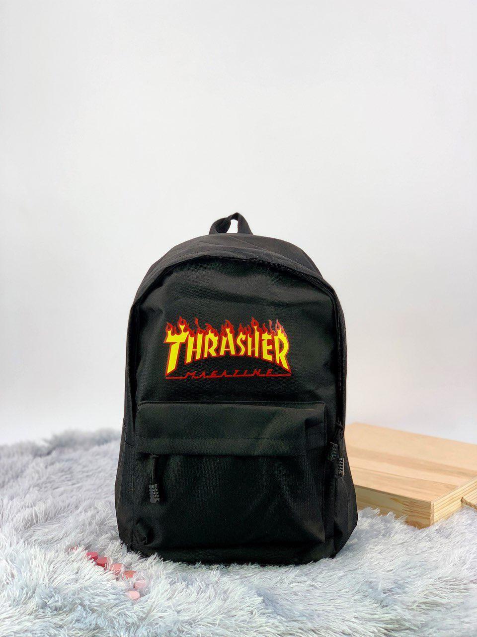 Рюкзак в стиле Thrasher черный