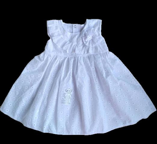 Нарядное батистовое платье (74, 80, 86 см)