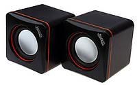 Колонки 2.0 JEDEL JD-CK4 USB+3.5mm, 2x3W, 90Hz- 20KHz, с регулятором громкости, Black, BOX, Q80