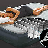 ✅Надувна ліжко Intex 67770, 152 х 203 х 32 , вбудований електронасос. Двоспальне, фото 3