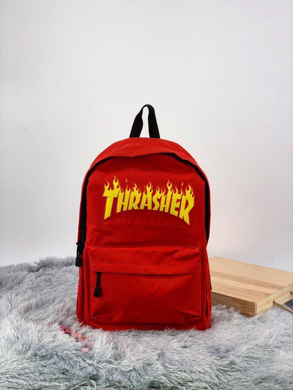 Рюкзак в стиле Thrasher красный