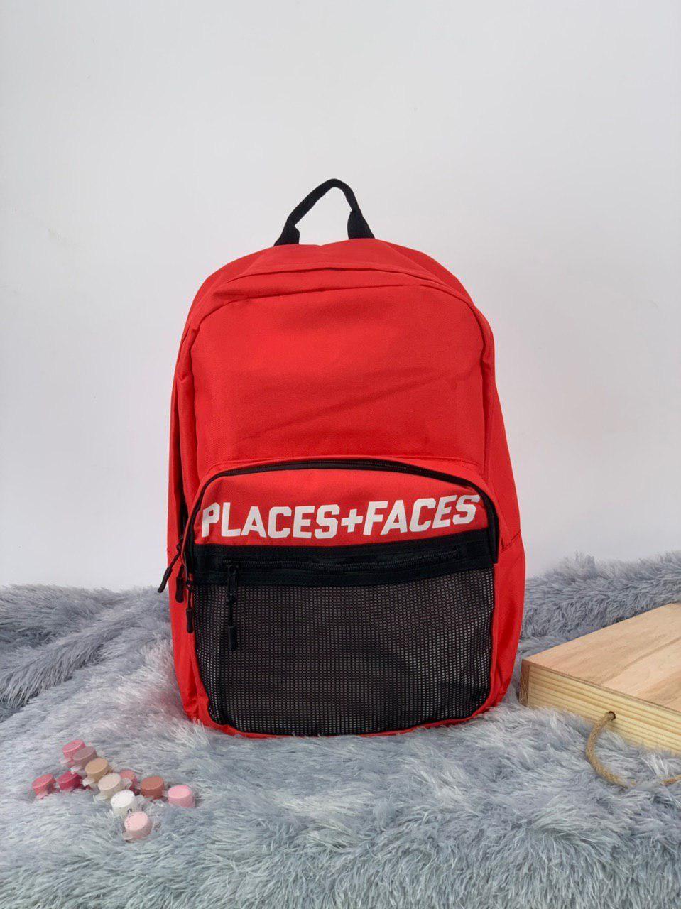 Рюкзак в стиле Palace красный