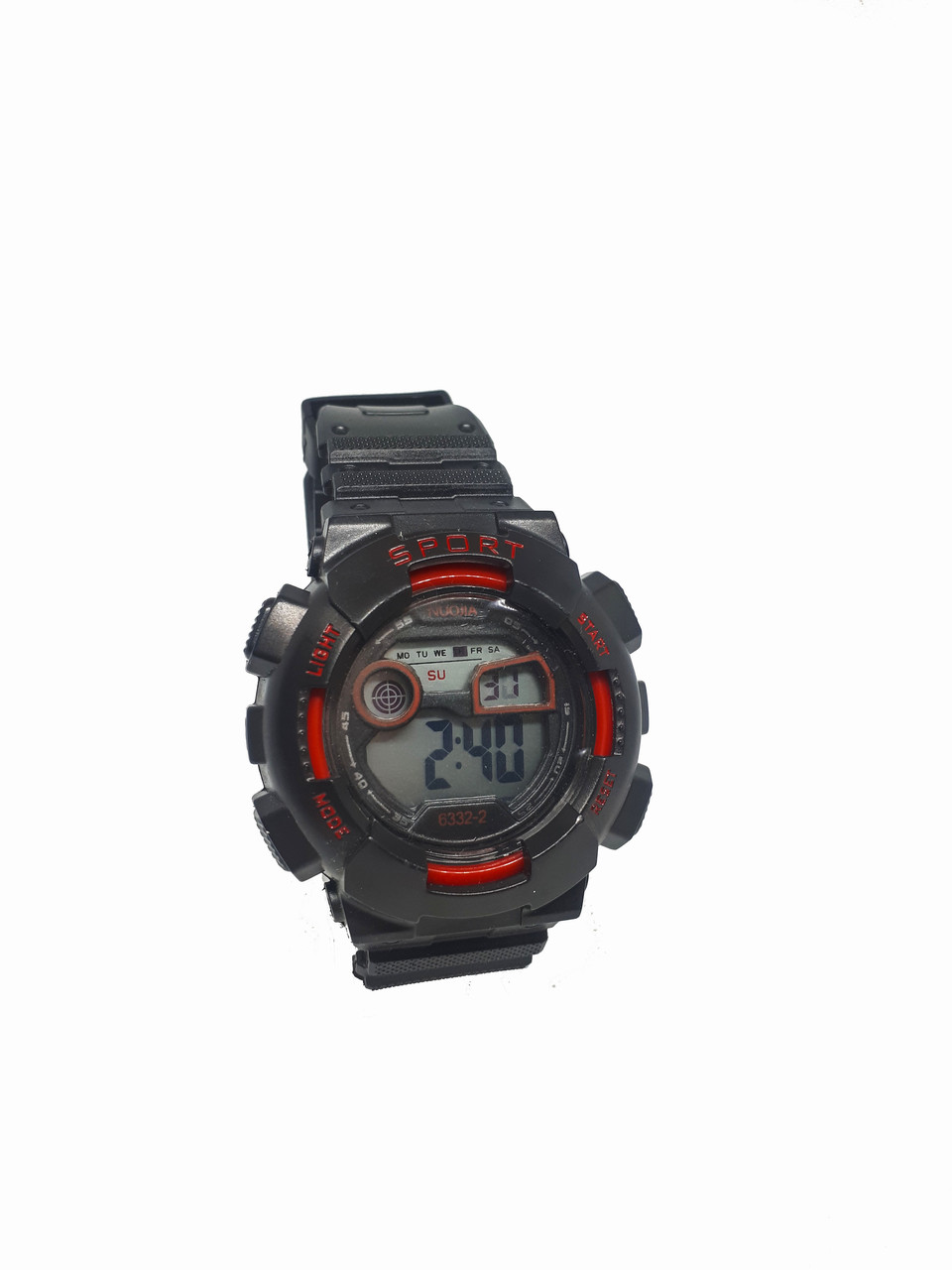 Часы Nuojia электронные водонепроницаемые. Красный