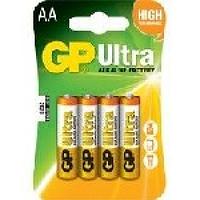 Батарейка GP Ultra 15AU-2UE4, щелочная AA, 4 шт в блистере, цена за блистер