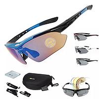 Велосипедные очки Rосkbros очки 5 линз поляризация  ( Оригинал )