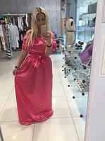 Платье Атласное с поясом