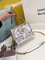 Женская сумка копия Фенди Fendi качественная эко-кожа дорогой Китай белая