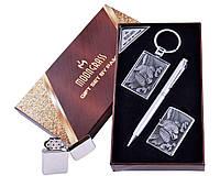 Подарочный набор с рисунком орла на зажигалке, фото 1