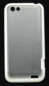 Чехол силикон и пластик на HTC ONE V T320e белый