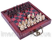 """Антиквариатные шахматы с оригинальными фигурами """"Китайский Дракон"""""""