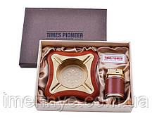 Подарочный набор с зажигалкой и пепельницей (Pioneer 2в1)