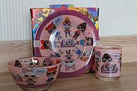 Кукла ЛОЛ подарочная посуда, фото 1