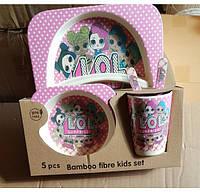 Любимые куклы ЛОЛ на экологической посуде для ребенка