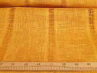 Льняная сетчатая ткань горчичного цвета (шир. 105 см), фото 1