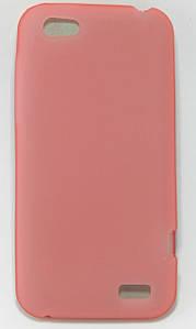 Чехол силиконовый матовый на HTC ONE V T320e