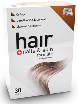 Fitness Authority Hair & Nails & Skin Formula 30 tabs, фото 2