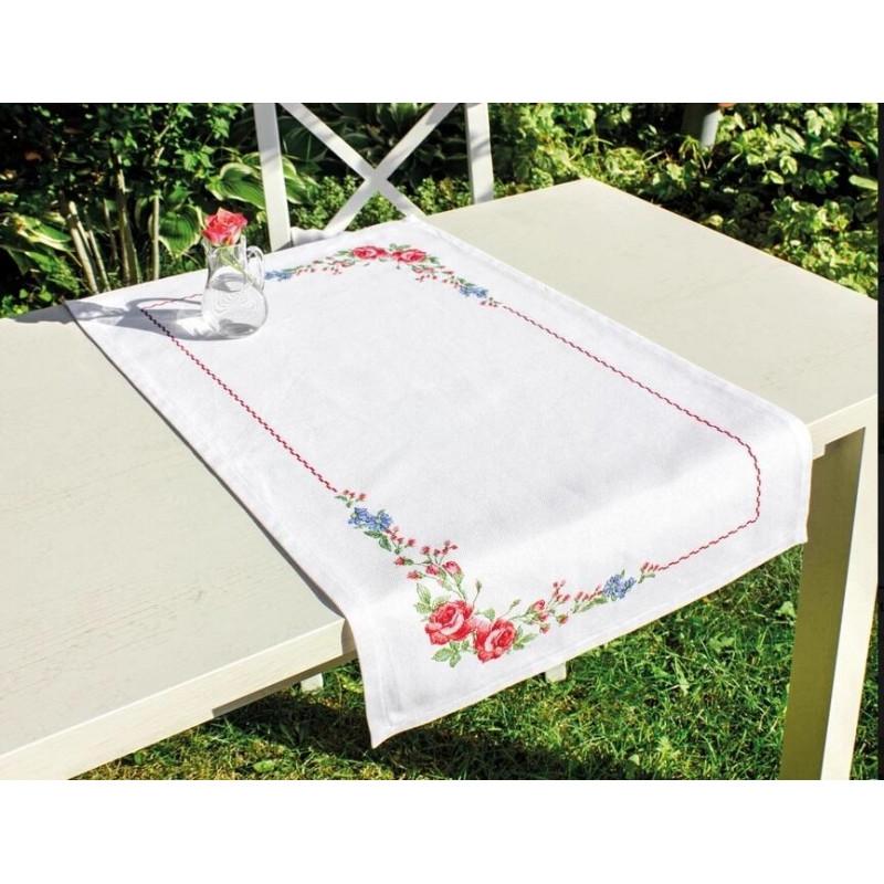 Набір для вышивки хрестом Luca-S FM011 Серветка «Квіти шипшини»