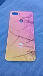 Задняя крышка для Xiaomi Mi 8 Lite синяя Cover Задняя панель Градиент Оригинал стекло синий, фото 3