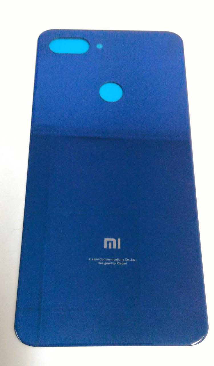 Задняя крышка для Xiaomi Mi 8 Lite синяя Cover Задняя панель Градиент Оригинал стекло синий