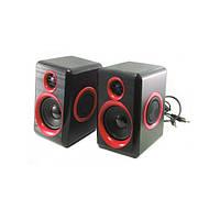 Компьютерные колонки акустика 2.0 USB FnT FT-165 Черный с красным (46088)
