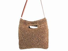 Соломенная сумка Мульти, коричневая (123900)