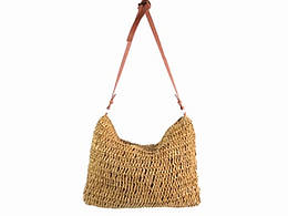 Соломенная сумка Тоут, светло-коричневая (123901)