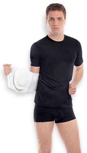 Противогрыжевой пупковий широкий бандаж з ребрами жорсткості (тип 353)