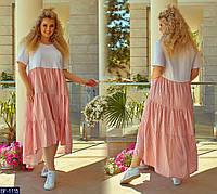 Платье BF-1115 в разных цветах. Размеры 48-50;52-54;56-58;60-62, фото 1