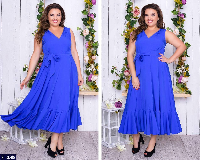 Платье BF-0289 в разных цветах. Размеры 50-52;54-56;58-60, фото 1