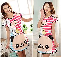 🎁  Домашнее платье с принтом ANNA  (48 размер,  размер L )🎁Ночная рубашка, Ночнушка, Ночнушка с принтом, Домашнее платье, Женская ночная майка,