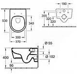Нужно дешевле? Звоните. -25% | 16659 Грн | Villeroy & Boch AVENTO унитаз подвесной, гориз выпуск, Direct, фото 2