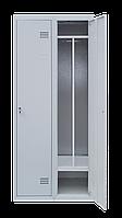 Шкаф для одежды на два человека ШОМ 2/80 разборной с перегородкою (толщина 0,5 мм)(1800х800х500)