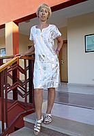 🎁 Туника с принтом Египет белая (48 размер размер L ) 🎁Ночная рубашка, Ночнушка, Ночнушка с принтом, Домашнее платье, Домашнее платье с принтом,