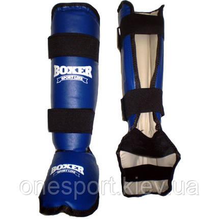 Защита голени и стопы Boxer 8011 С L синие (код 236-250315), фото 2