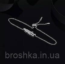 Слейв браслет цепочка белый крокодил, фото 3