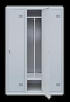 Шкаф для одежды на три человека ШОМ 3/120 разборной с перегородкою (толщина 0,5 мм)(1800х1200х500)