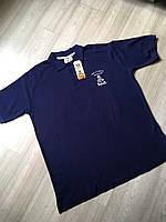 Синяя мужская футболка-поло от Dakar размер ХL евро смотрите замеры, фото 1