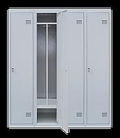 Шкаф для одежды на четыре человека ШОМ 4/160 разборной с перегородкою(толщина 0,5 мм)(1800х1600х500)
