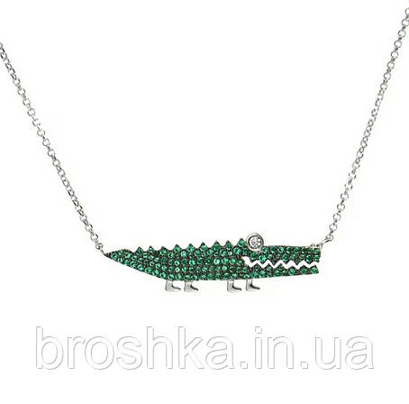 Подвеска зеленый крокодил бижутерия, фото 2