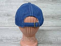 Джинсовая кепка для девочек с декоративными бусинками, сезон весна-лето, с регулятором, размер 55-56 см, фото 3